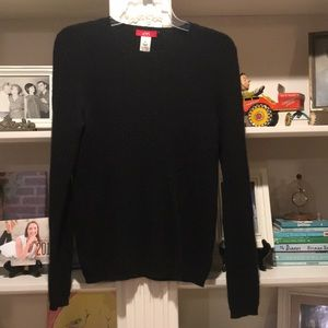 100% cashmere cable knit sweater Med